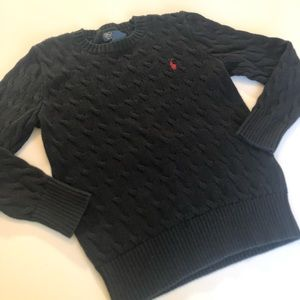 Polo Ralph Lauren Medium 10-12 Boy Black Sweater